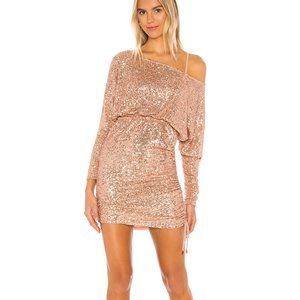 Free People Giselle Mini Dress Rose Gold Sequin